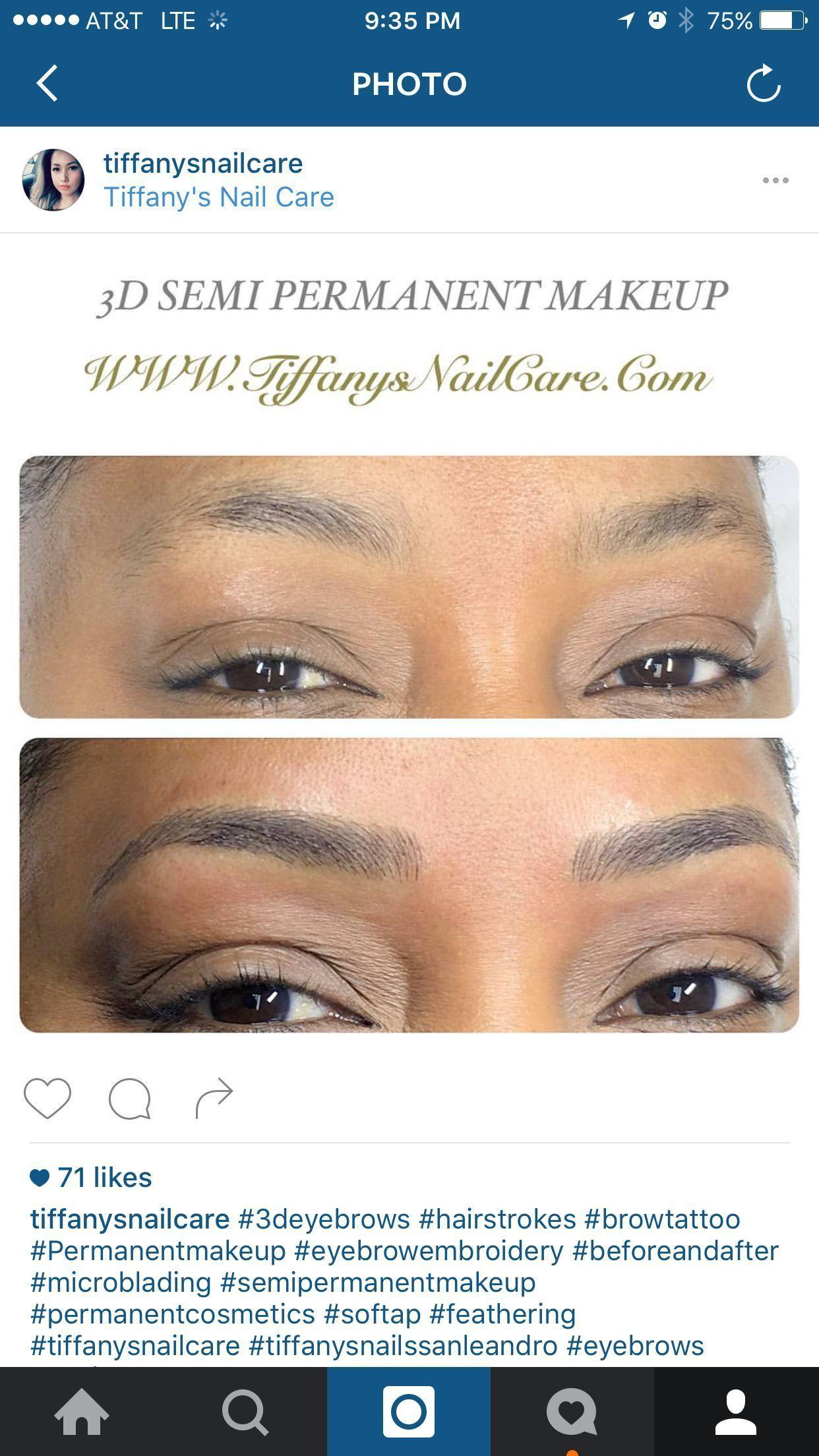 3d Hair Stroke Permanent Makeup Eyebrows : stroke, permanent, makeup, eyebrows, Hairline, Semi-permanent, Makeup, Tattoo., Cosmetic, Feathers., Microblading, #half, Permanent, Tatt…, Augenbrauen,, Augen,