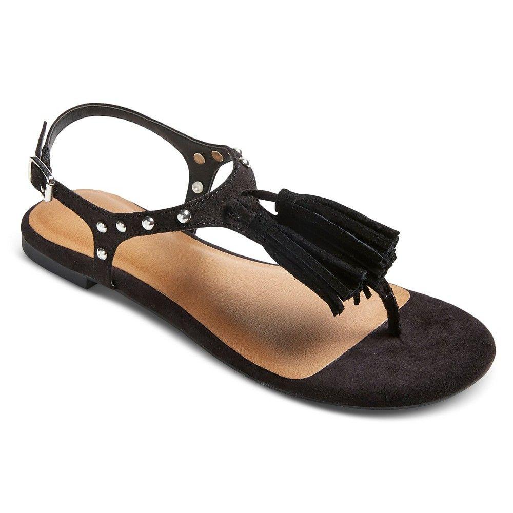 Women's Lolita Thong Sandals Black 7.5 - Mossimo