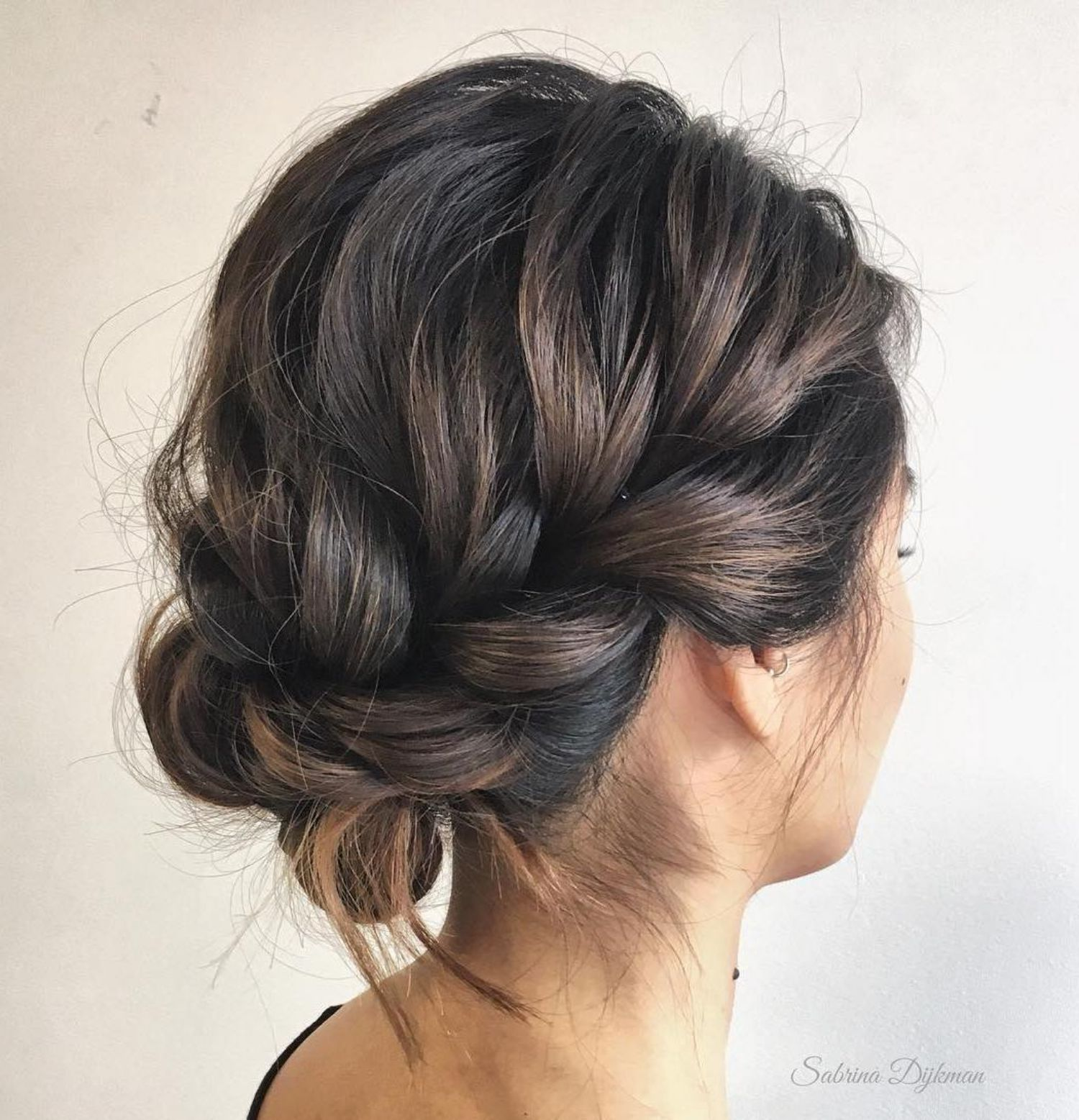 60 Trendiest Updos For Medium Length Hair In 2019 Bucket List