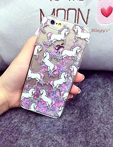 cheap for discount 6c340 28433 Amazon.com: iPhone 6/6S Case,Blingy's New Cool Flowing Liquid ...