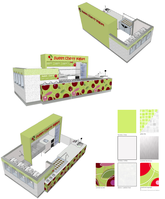 Sample Stand Alone Frozen Yogurt Kiosk Layout | http://www.alpinefreezer.