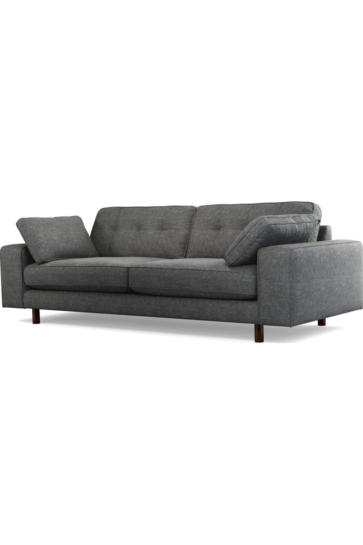 Content By Terence Conran Tobias Canape 3 Places Tissu Texture Gris Ardoise Et Pieds En Bois Sombre Sofa Texture Sofa 3 Seater Sofa