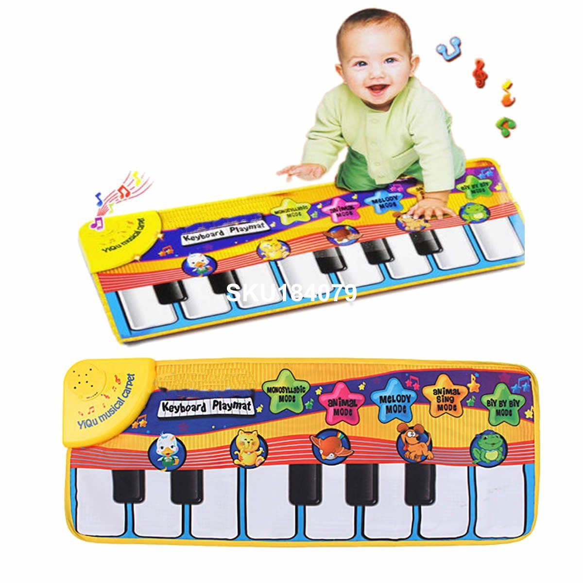 Baby Kids Touch Playmat Learn Singing Piano Keyboard Music Carpet Mat Blanket US