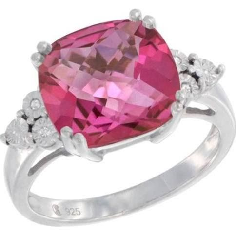 white gold pink topaz ring - Google Search