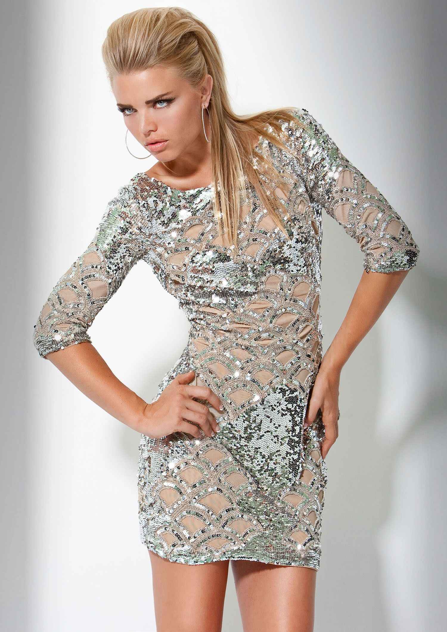 So obsessed with this dress! So perfect for New Years. (Jovani 7749)