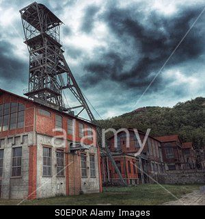 Puit Couriot, Mine of Loire,Saint-Etienne,France Stock Photo