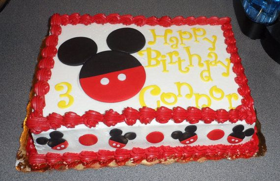 mickey mouse sheet cake mickey mouse inspired fondant cake toppers complete by 5887