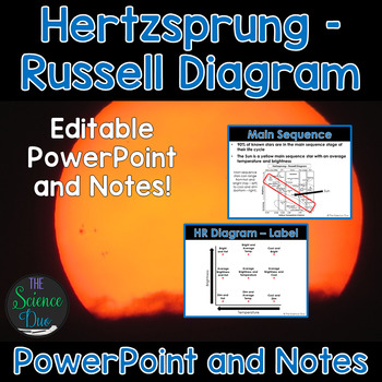 Hertzsprung russell hr diagram powerpoint and notes introduce or help your students review the hertzsprung russell hr diagram with this ccuart Choice Image