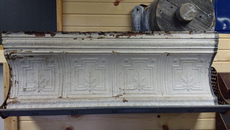 Antique Pressed Tin Crown Molding