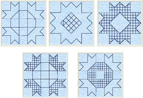 5 Free quilt embroidery designs for quilting in the hoop. | Quilting ...