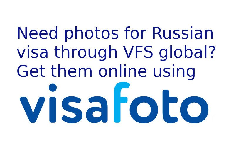 Do you need photos for Russian visa through VFS global? They