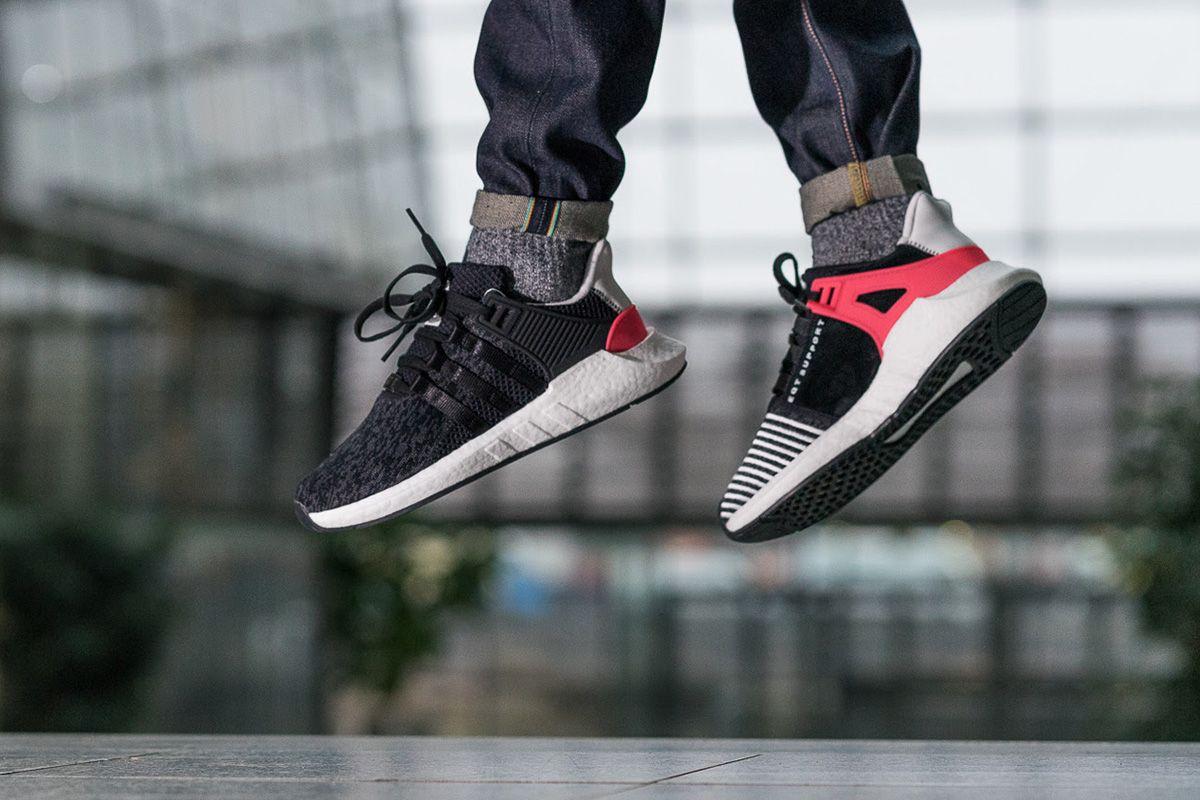 adidas eqt 93/17 on feet