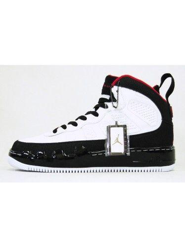 dd82f97cb920 Nike Air Jordan 9 IX Air Force One Fusion AJF 9 Black Red White ...