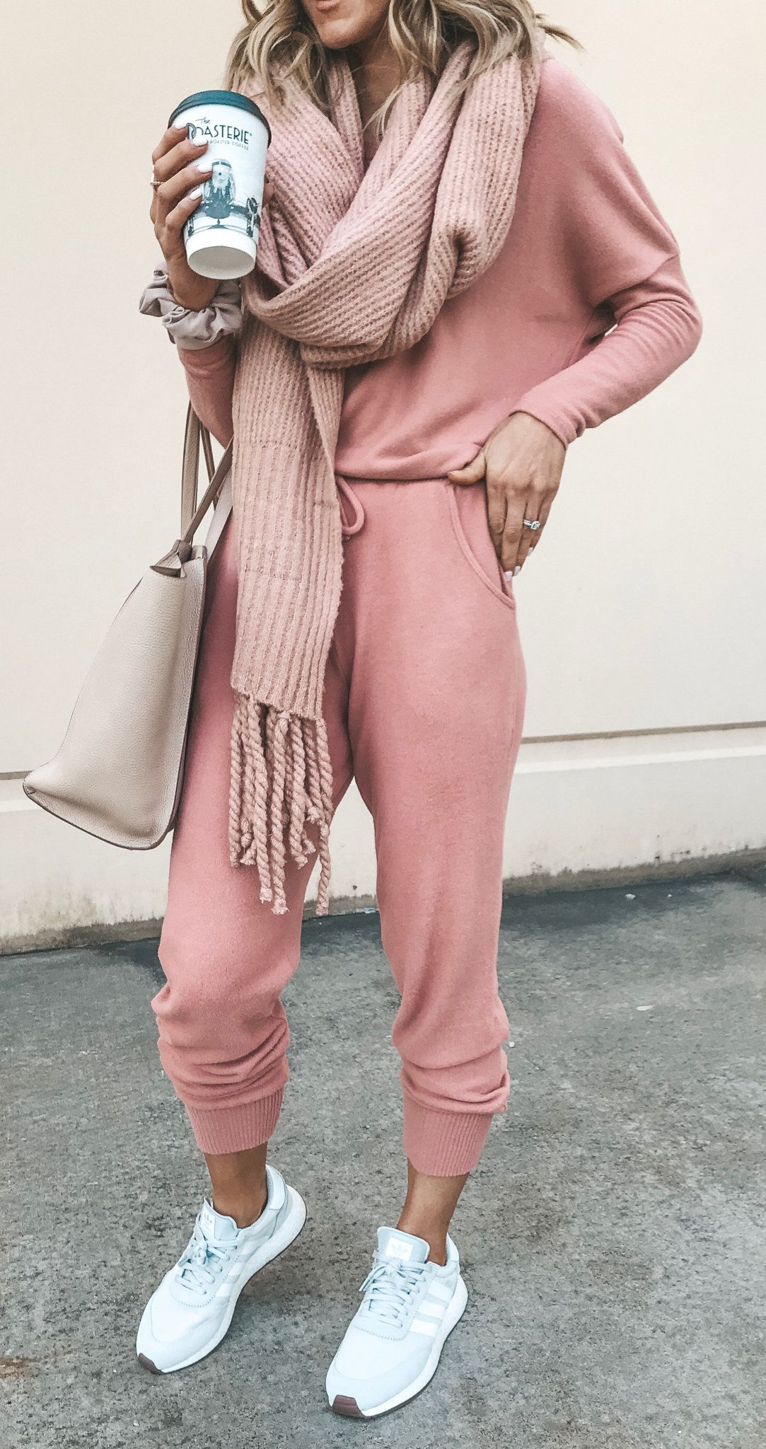 beige scarf | Preppy fall outfits, Sporty chic outfits, Cute