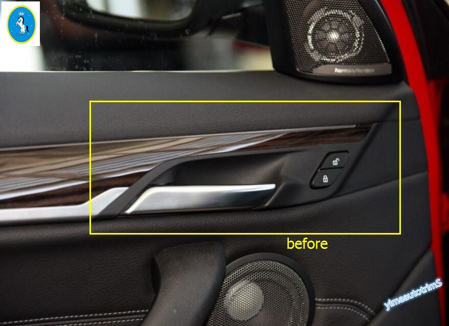 New For Bmw X1 F48 2016 2017 Abs Inner Handle Cover Interior Trim 4 Pcs Set Interior Accessories 2017 Interiors Interior Trim
