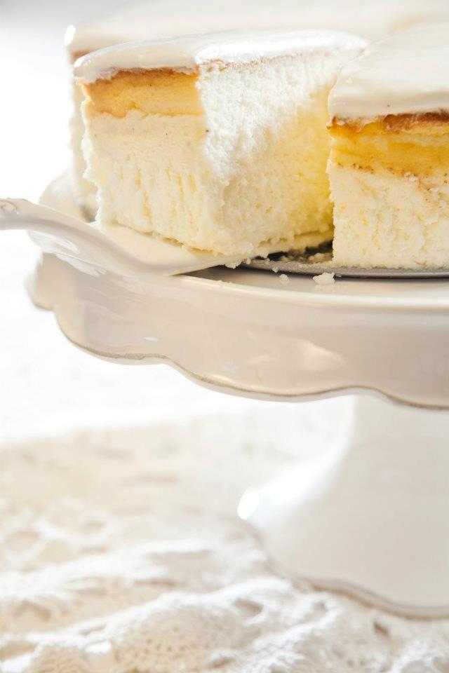 עוגת גבינה אפויה עם שמנת חמוצה Food Baking Sour Cream Frosting