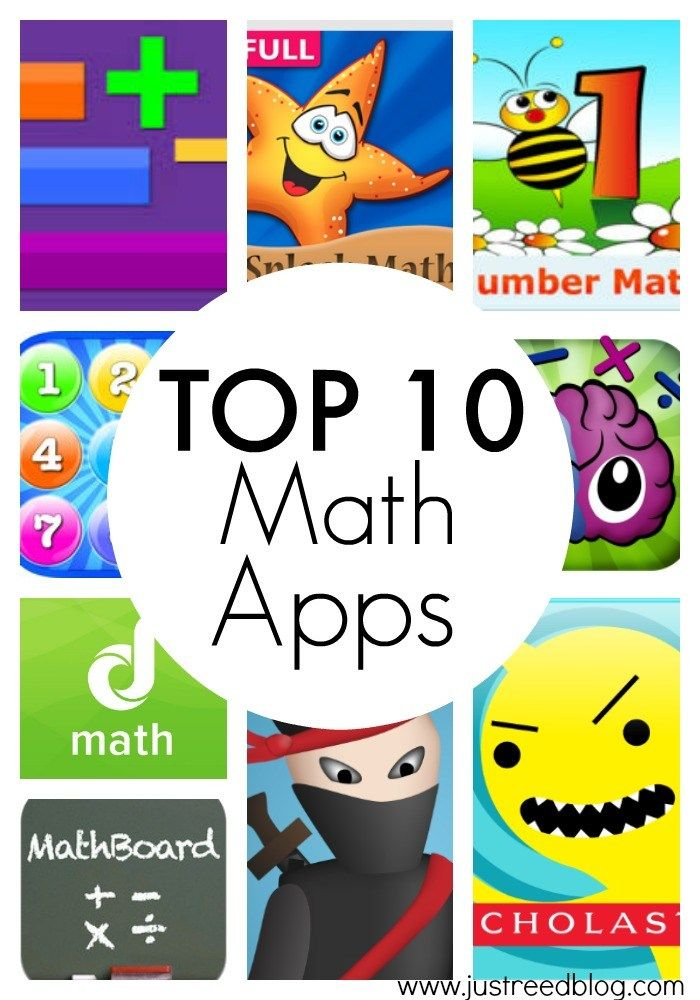 Top Ten Math Apps for K2 with a Free Parent Handout