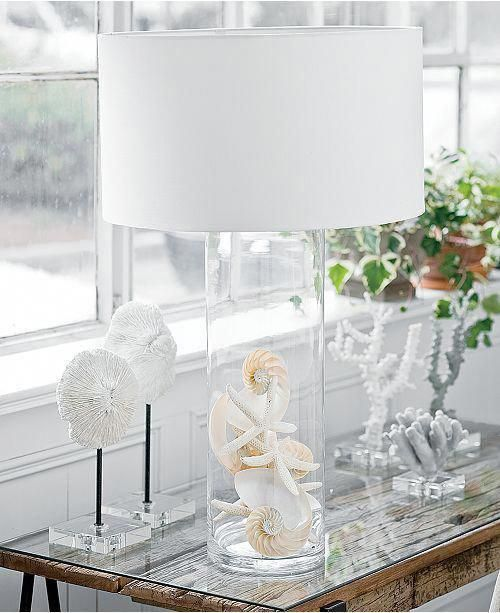 Photo of Regina Andrew Design Glass Cylinder Table Lamp