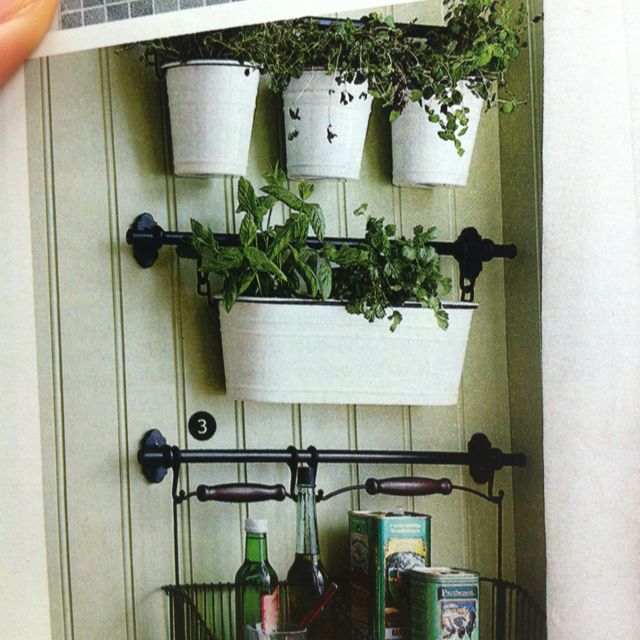Ikea Indoor Garden: Ikea Indoors Hanging Herbs And Storage Curtain Rod To Hold