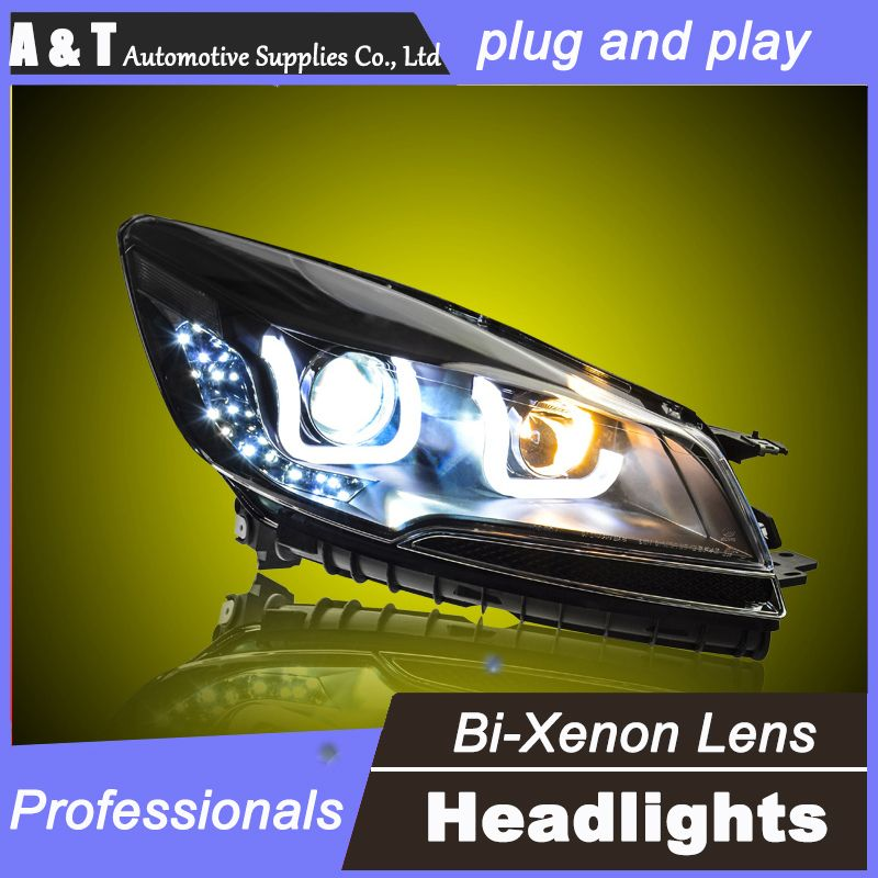 Car Styling For Ford Escape Kuga Headlights U Angel Eyes Drl 2013