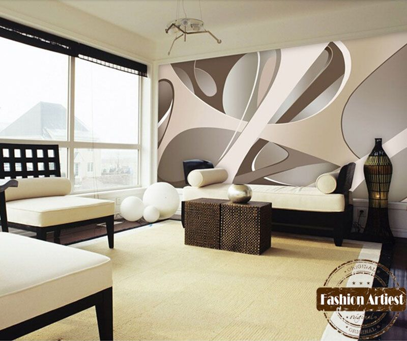 Custom Modern 3d Wallpaper Mural Abstract Art Lines Minimalist Space Tv  Sofa Bedroom Living Room Cafe Restaurant Background