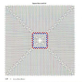 Схема плетения квадрата из бисера | Бисер, Схемы для ...