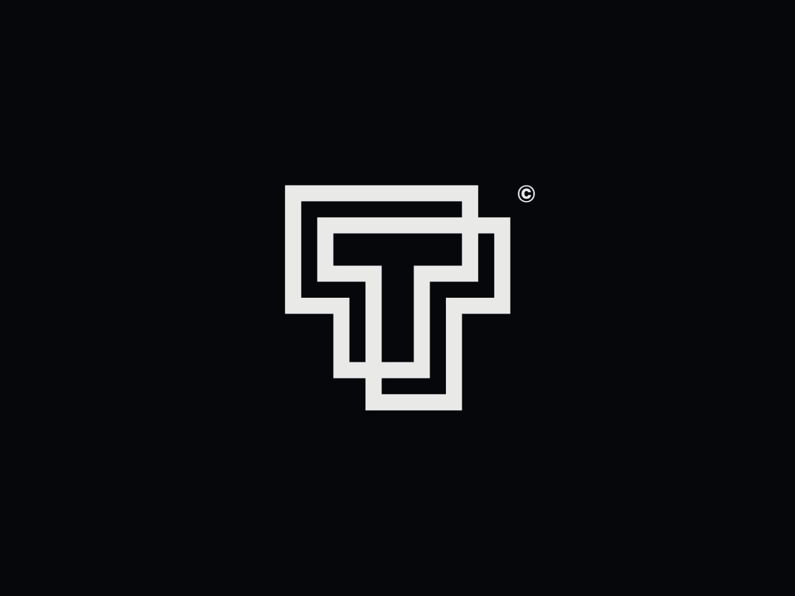Ww020 Letter T Logo Lettering Logo Design Letter T