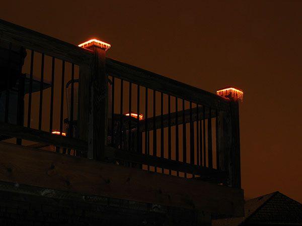 Lighted post caps deck lights by moonlight decks deck lighting lighted post caps deck lights by moonlight decks mozeypictures Gallery