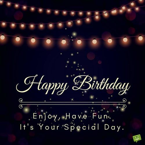 Birthday Wishes For A Friend On Image Of Lights Shining In The Dark