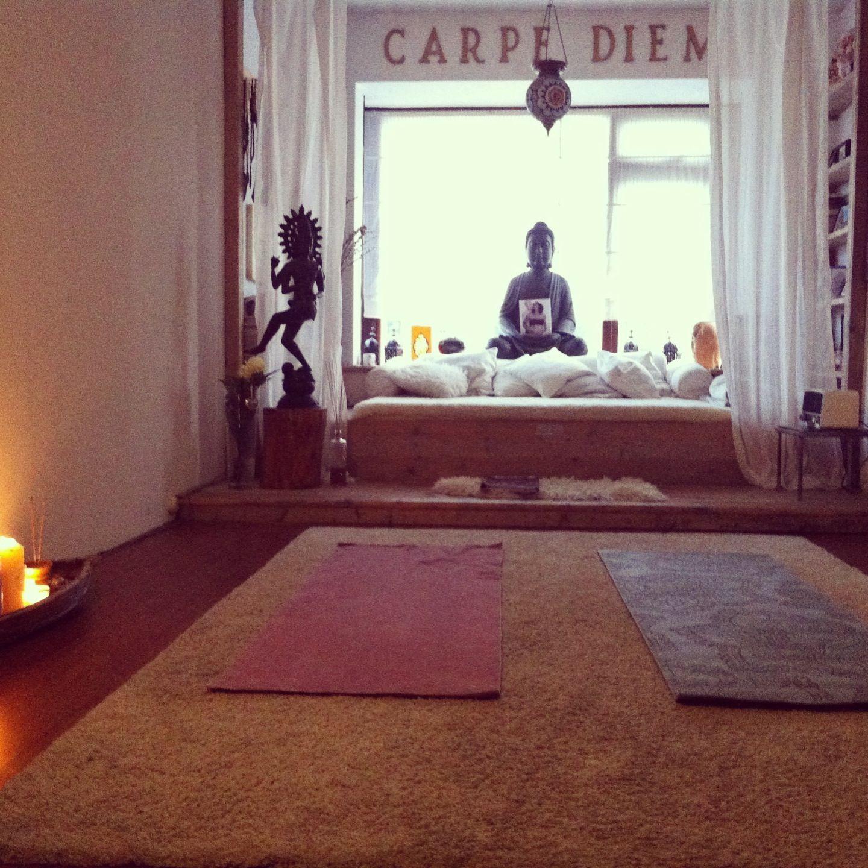 My yoga meditation room for now g n c t u - Yoga meditation room ideas ...