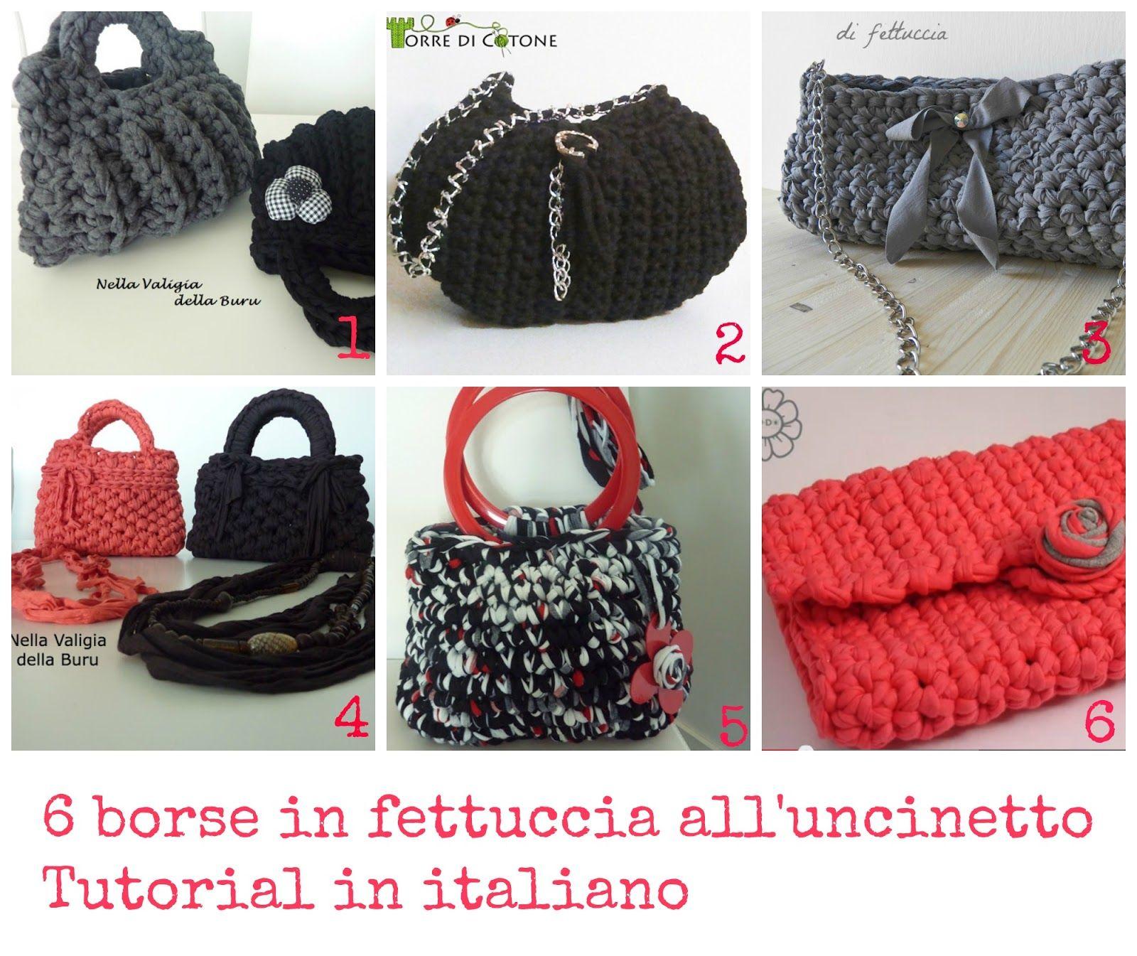 6 Borse In Fettuccia Alluncinetto Tutorial In Italiano Borse E