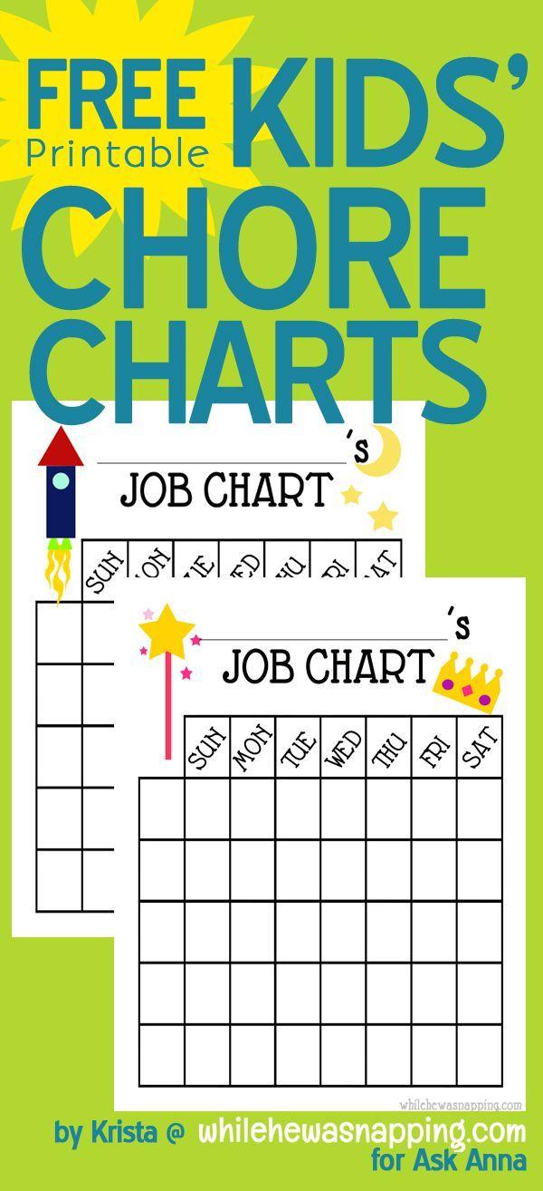 free printable chore charts chart free printable and free
