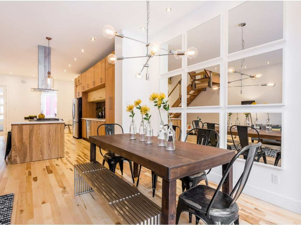 From Typical 1885 Plateau Row House To Stylish Open Concept Show Stopper Asking Price 1 245 Million Small House Living Open Concept Small House Row House Open concept row house