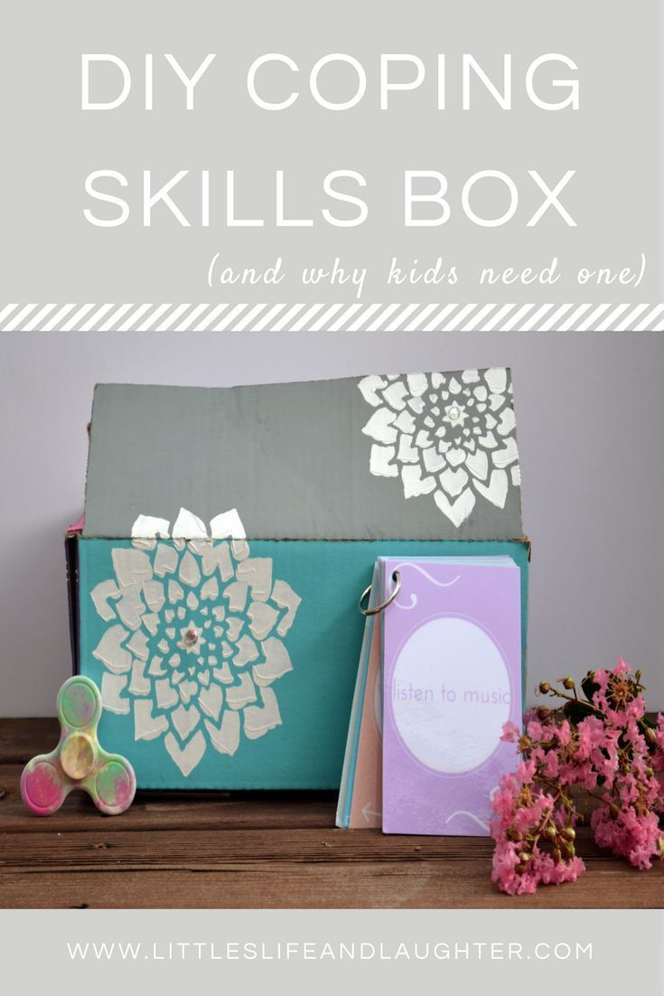 DIY Coping Skills Box and why kids need one. These are great for adults who are working on improving their mental well-being also. Might make a great family project.