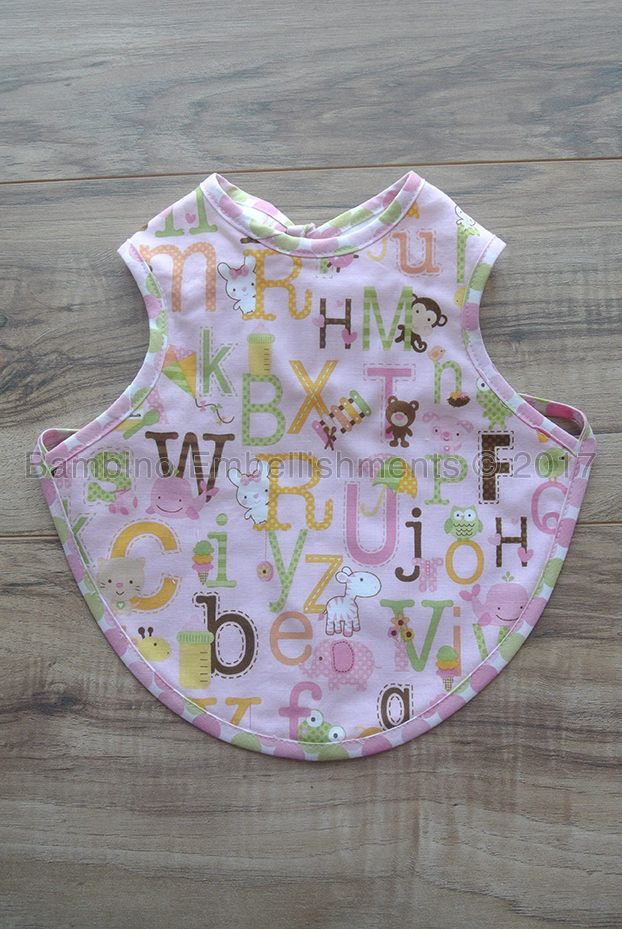 Alphabet Bapron, Full Coverage Bib, Art Smock,Baby Toddler Apron Bib,Baby Bib, Tie On Baby Bib, Toddler Bib,Full Coverage Bib,Reversible Bib by BambinoEmbellishment on Etsy