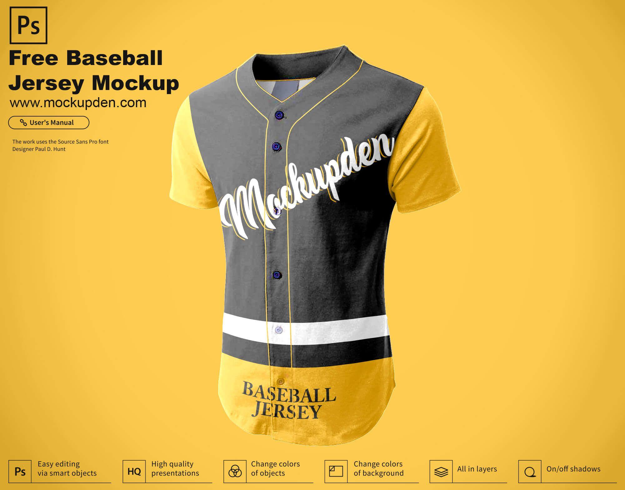 Download Free Baseball Jersey Mockup Psd Template Baseball Jerseys Clothing Mockup Jersey