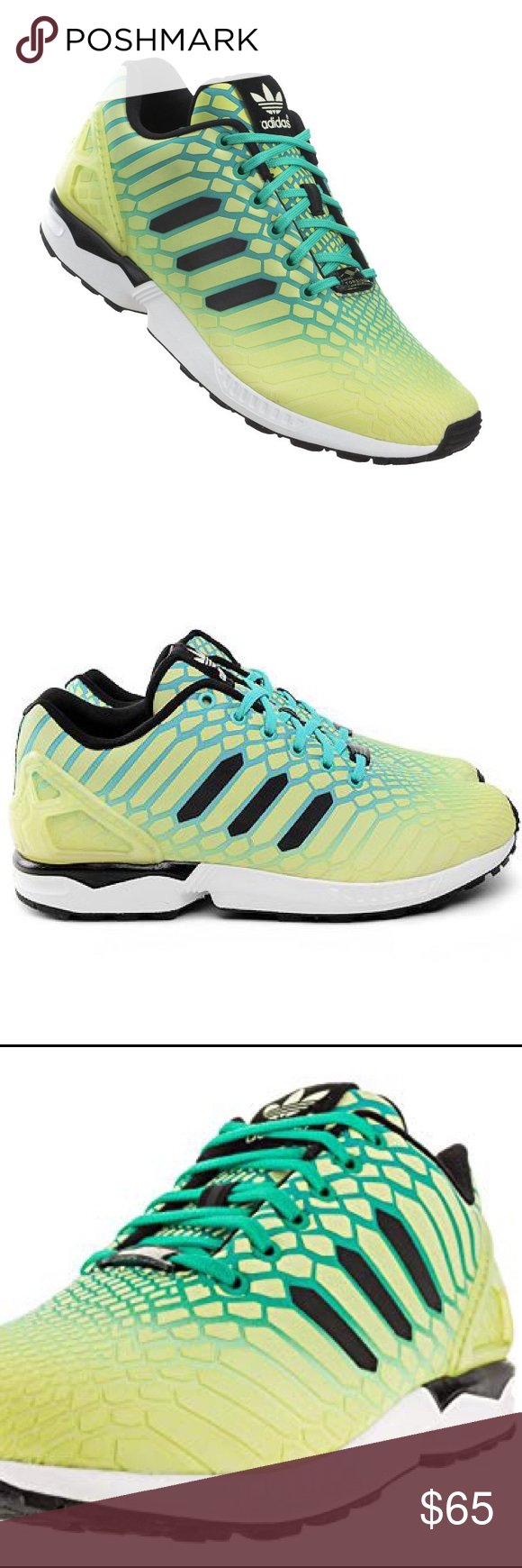 88dc3e8b2 Adidas ZX Flux Torsion Men s Sneakers Reflective Brand new in the box Men s  Adidas ZX Flux Torsion Frozen Yellow Glowing reflective sneakers.