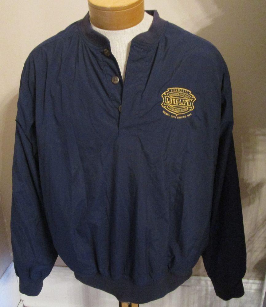 31c6f643c Vtg Pennzoil Racing Jacket Nylon Embroidered XLarge XL Mens Navy Gold  Pullover #UltraClub #BasicJacket