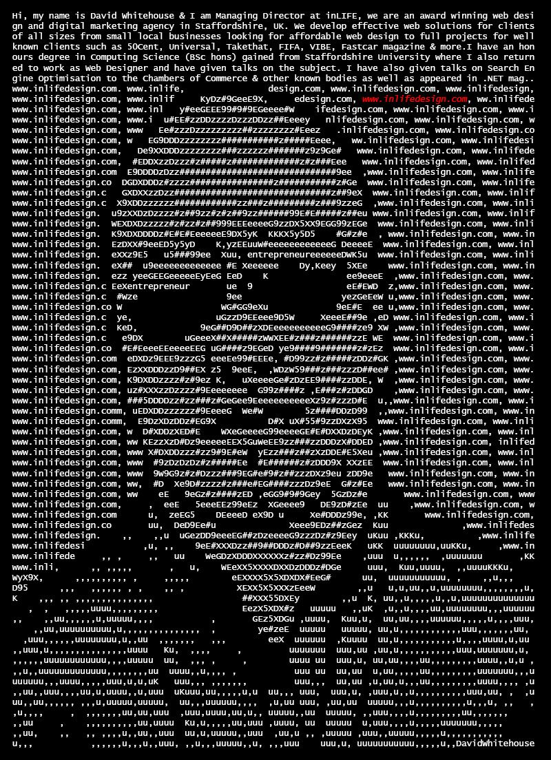 An ASCII Art Resume, Fun Portfolio   My Style   Pinterest
