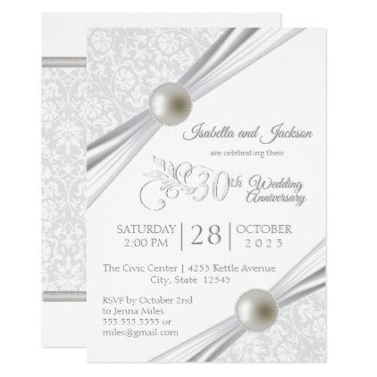30th pearl anniversary design invitation in 2018 wedding