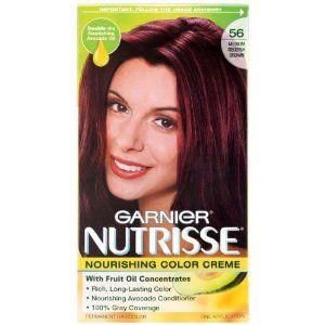 Garnier Nutrisse Haircolor 56 Medium Reddish Brown Dying My Hair This Color Tonight