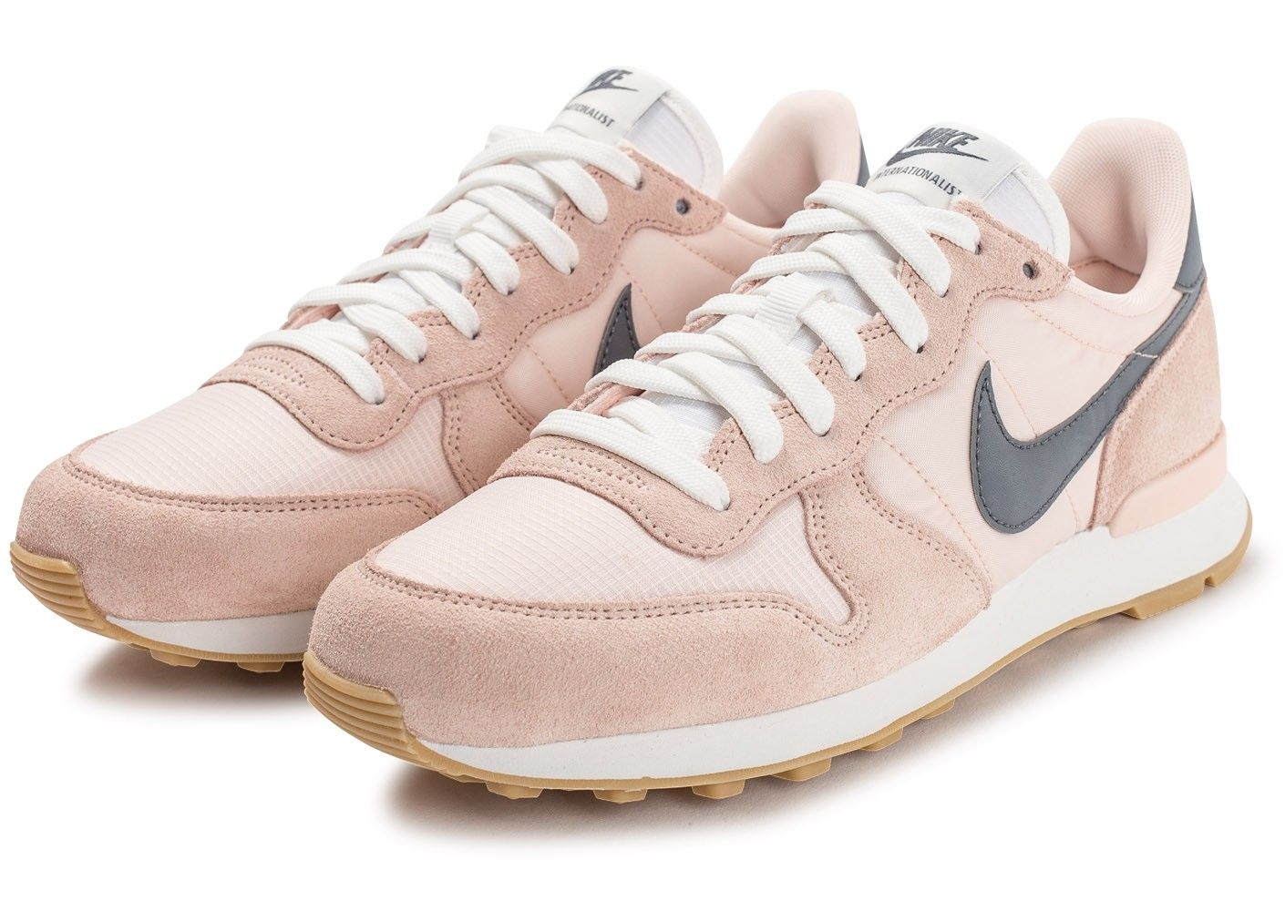 nike internationalist femme noir et rose