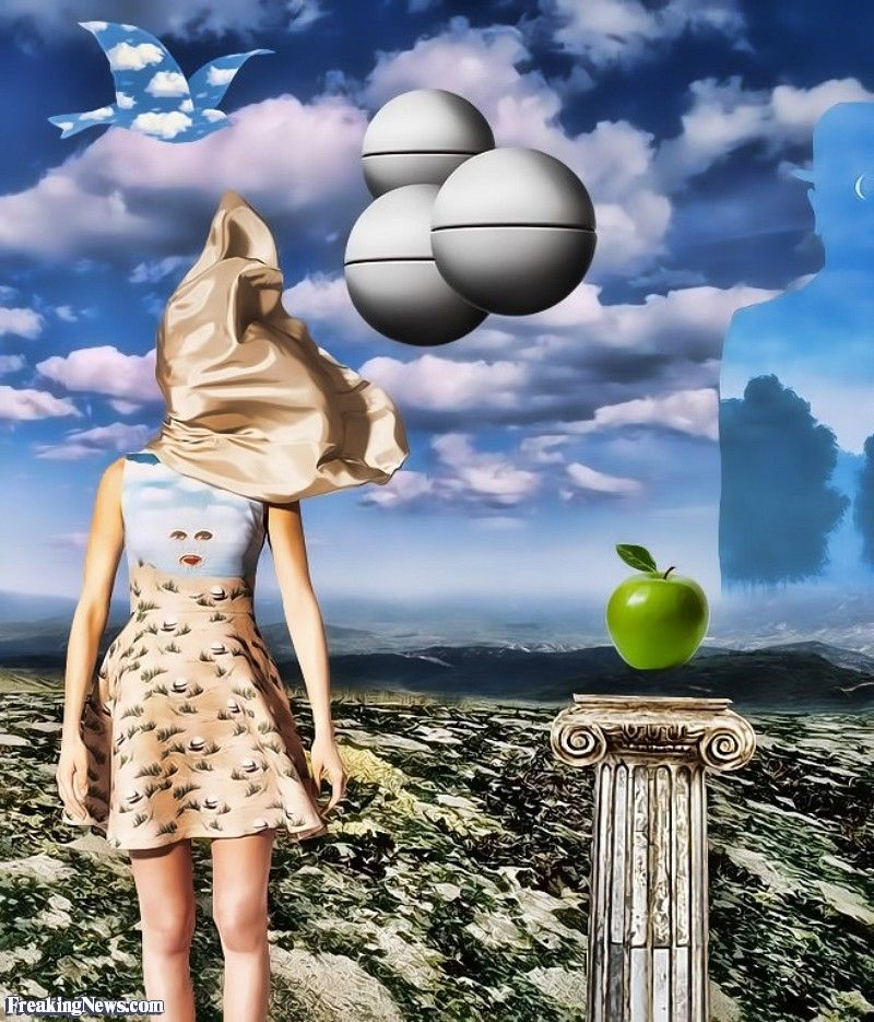 Apple Blind by Magritte Magritte, Cool art, Picture