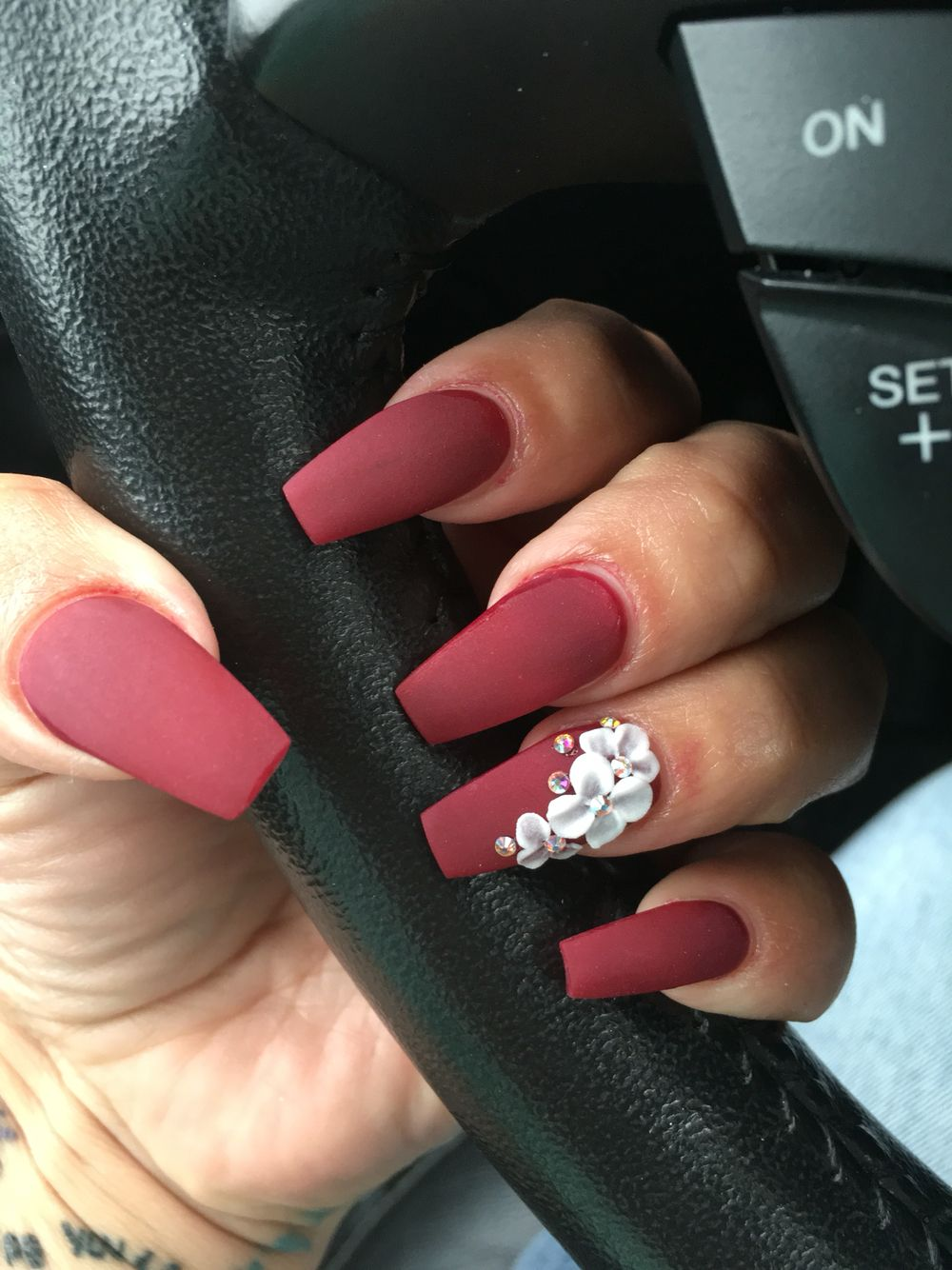 Coffin nails matte - Nail Ideas | Pinterest - Nagel, Kunstnagels en ...