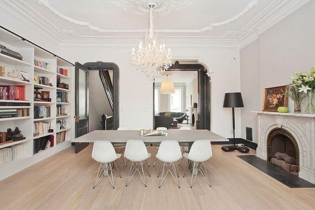 Attraktiv Esszimmer Fusion Modern Neoklassisch Weiß Grau