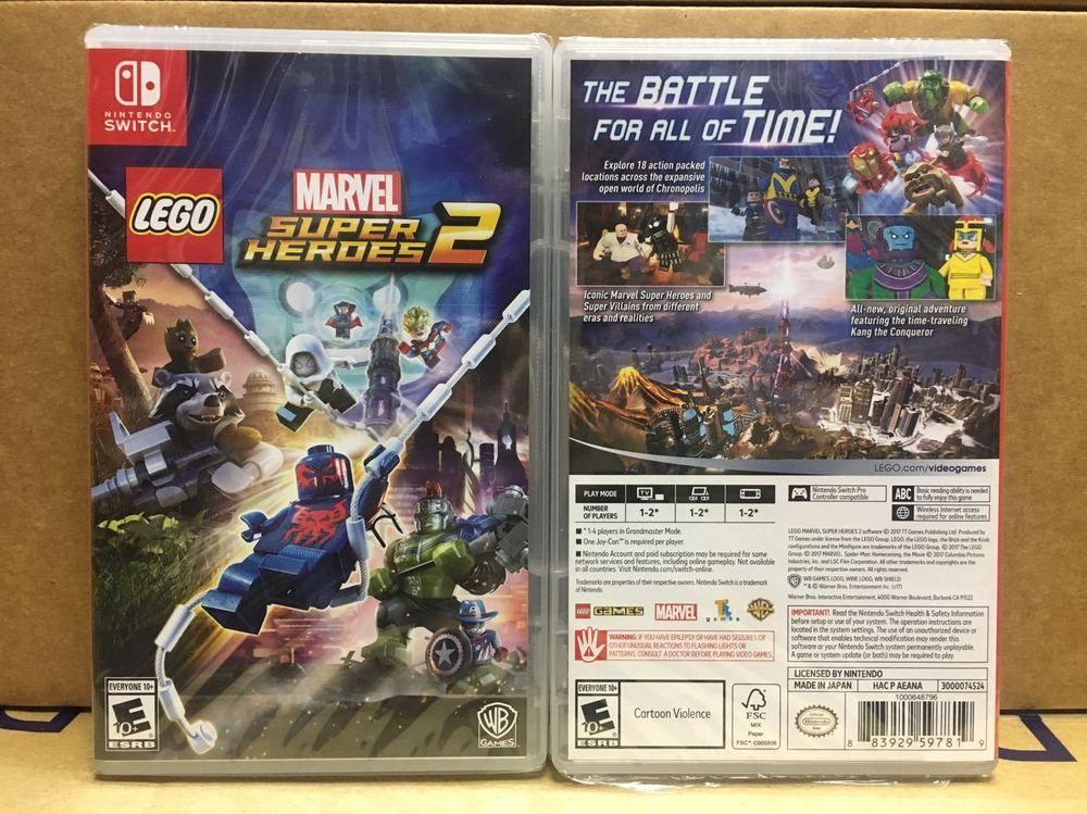 NEW Nintendo Switch NS LEGO: Marvel Super Heroes 2 THOR 3 ...
