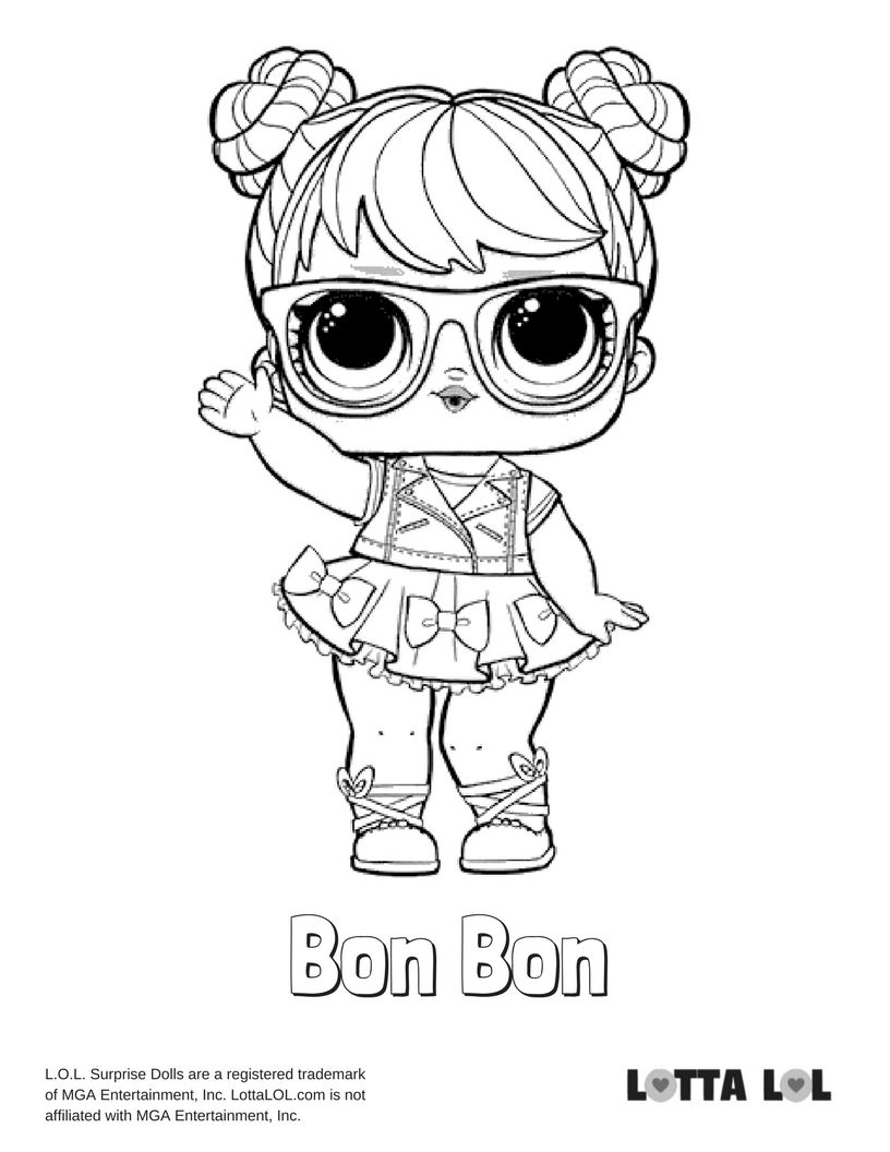96 Lol Surprise Coloring Pages Bon Bon Lol Surprise Series 3