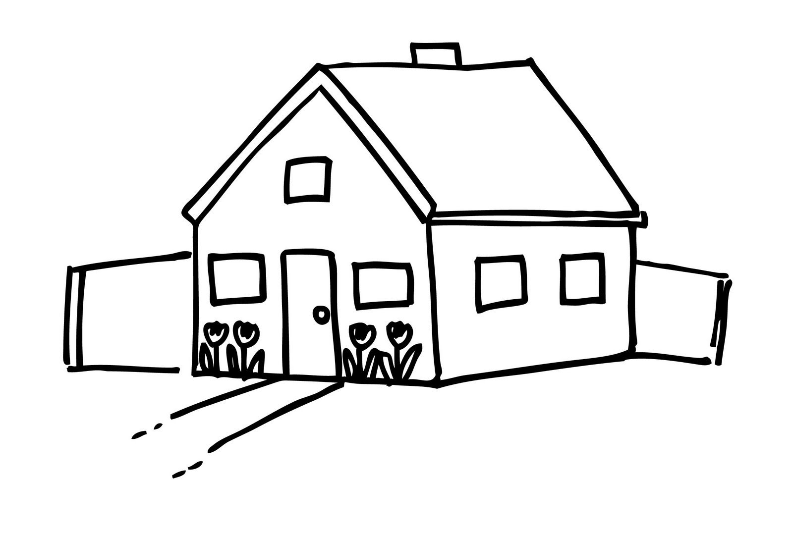 Free Simple Black And White House Clip Art Image 993 Stick