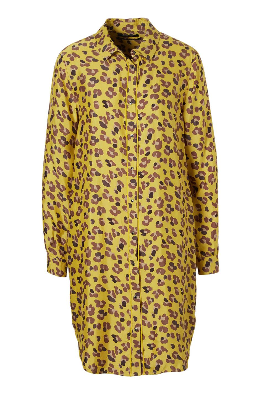 b0b79839503 Scotch & Soda jurk #wehkamp #jurk #panterprint #geel #blouse   Trend ...