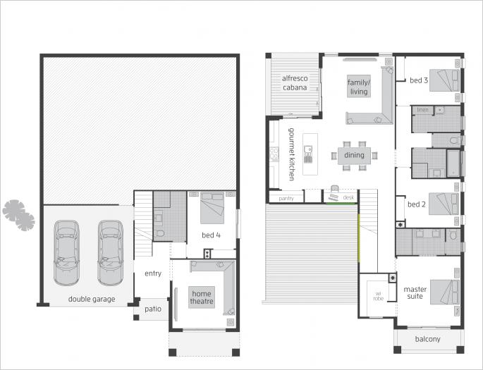 Bayview Floorplans Mcdonald Jones Homes Split Level Floor Plans Floor Plans Duplex Floor Plans